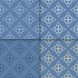 πρότυπο άνευ ραφής Το σύνολο χρωμάτισε το γεωμετρικό υπόβαθρο Στοκ εικόνα με δικαίωμα ελεύθερης χρήσης