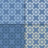 πρότυπο άνευ ραφής Το σύνολο χρωμάτισε το γεωμετρικό υπόβαθρο Στοκ Εικόνα