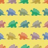 πρότυπο άνευ ραφής Χρωματισμένοι δεινόσαυροι Στοκ φωτογραφία με δικαίωμα ελεύθερης χρήσης