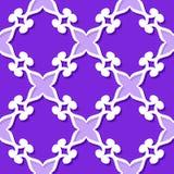 πρότυπο άνευ ραφής Floral ιώδες και ιώδες τρισδιάστατο υπόβαθρο διανυσματική απεικόνιση