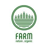 Πρότυπο αγροτικών λογότυπων Στοκ εικόνες με δικαίωμα ελεύθερης χρήσης