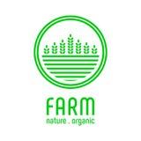 Πρότυπο αγροτικών λογότυπων Στοκ εικόνα με δικαίωμα ελεύθερης χρήσης