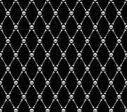 πρότυπο αποκριών άνευ ραφή&sigma Υπόβαθρο κρανίων και κόκκαλων Στοκ εικόνες με δικαίωμα ελεύθερης χρήσης