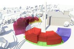 Πρότυπο αρχιτεκτονικής Στοκ εικόνες με δικαίωμα ελεύθερης χρήσης