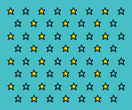 Πρότυπο αστεριών Στοκ Εικόνες