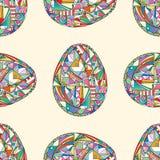 πρότυπο αυγών Πάσχας άνευ ρ& Αφηρημένο υπόβαθρο διακοπών στο σύγχρονο ύφος Στοκ Φωτογραφία