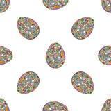 πρότυπο αυγών Πάσχας άνευ ρ& Αφηρημένο υπόβαθρο διακοπών στο σύγχρονο ύφος Στοκ φωτογραφία με δικαίωμα ελεύθερης χρήσης