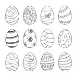 πρότυπο αυγών Πάσχας επίσης corel σύρετε το διάνυσμα απεικόνισης Στοκ Εικόνες