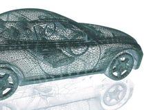 Πρότυπο αυτοκινήτων στο άσπρο υπόβαθρο Στοκ Εικόνες