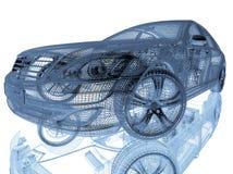 Πρότυπο αυτοκινήτων στο άσπρο υπόβαθρο Στοκ εικόνα με δικαίωμα ελεύθερης χρήσης