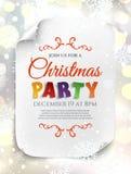 Πρότυπο αφισών γιορτής Χριστουγέννων Ελεύθερη απεικόνιση δικαιώματος