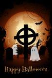 Πρότυπο αφισών κόμματος αποκριών Zombie Στοκ Φωτογραφία