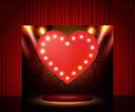 Πρότυπο αφισών με το αναδρομικό έμβλημα καρδιών Σχέδιο για το presentatio Στοκ εικόνα με δικαίωμα ελεύθερης χρήσης