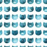 πρότυπο γατών άνευ ραφής διάνυσμα Διανυσματικές γάτες τριγώνων Αφηρημένο ασβέστιο Στοκ Εικόνα