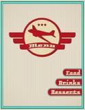 Πρότυπο για έναν κατάλογο επιλογής εστιατορίων Στοκ εικόνα με δικαίωμα ελεύθερης χρήσης