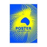 Πρότυπο για ένα περιοδικό για τη μουσική, σύγχρονη αφίσα Στοκ Εικόνες