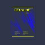 Πρότυπο για ένα περιοδικό για τη μουσική, σύγχρονη αφίσα Στοκ εικόνα με δικαίωμα ελεύθερης χρήσης