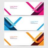 Πρότυπο για πρότυπο 10 Ιστού εμβλημάτων σχεδίου επιχειρησιακής ιστοχώρου ή διαφήμισης το διανυσματικό αφηρημένο Στοκ Εικόνα