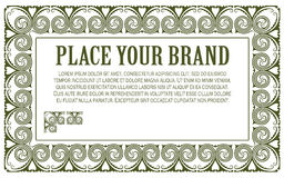 Πρότυπο για την επιχείρηση, το φάκελο, τις προσκλήσεις και τις ευχετήριες κάρτες Στοκ εικόνες με δικαίωμα ελεύθερης χρήσης
