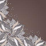 Πρότυπο για την κάρτα με το λουλούδι φαντασίας διανυσματική απεικόνιση