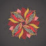 Πρότυπο για την κάρτα με το λουλούδι φαντασίας Στοκ εικόνα με δικαίωμα ελεύθερης χρήσης