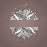 Πρότυπο για την κάρτα με το λουλούδι φαντασίας απεικόνιση αποθεμάτων