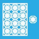 Πρότυπο για την κοπή λέιζερ Στοκ εικόνα με δικαίωμα ελεύθερης χρήσης