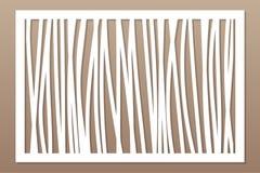Πρότυπο για την κοπή Αφηρημένη γραμμή, γεωμετρικό σχέδιο Περικοπή λέιζερ Καθορισμένη αναλογία 2:3 επίσης corel σύρετε το διάνυσμα απεικόνιση αποθεμάτων