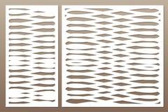 Πρότυπο για την κοπή Αφηρημένο σχέδιο τέχνης γραμμών Περικοπή λέιζερ Σύνολο Στοκ φωτογραφία με δικαίωμα ελεύθερης χρήσης