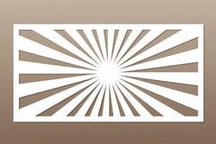 Πρότυπο για την κοπή Γραμμή, γεωμετρικό σχέδιο Περικοπή λέιζερ Rati Στοκ Εικόνα