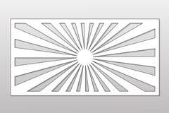 Πρότυπο για την κοπή Γραμμή, γεωμετρικό σχέδιο Περικοπή λέιζερ Rati Στοκ Εικόνες