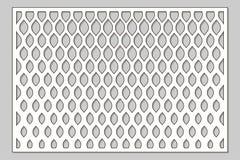 Πρότυπο για την κοπή Κλασικό, γεωμετρικό σχέδιο Περικοπή λέιζερ Αρουραίος Στοκ Εικόνα