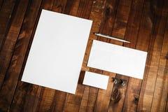 Πρότυπο για την ταυτότητα Στοκ Εικόνες