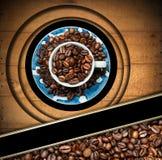 Πρότυπο για τις επιλογές σπιτιών καφέ Στοκ Εικόνα