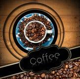 Πρότυπο για τις επιλογές σπιτιών καφέ Στοκ Φωτογραφίες