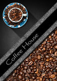 Πρότυπο για τις επιλογές σπιτιών καφέ Στοκ Φωτογραφία