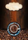 Πρότυπο για τις επιλογές σπιτιών καφέ Στοκ Εικόνες
