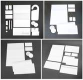 Πρότυπο για το μαρκάρισμα της ταυτότητας Για το γραφικό presentati σχεδιαστών Στοκ Εικόνες
