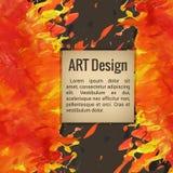 Πρότυπο για το textblock με την κατασκευασμένη handdrawn τέχνη Απεικόνιση αποθεμάτων