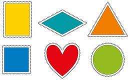 Πρότυπο γραμματοσήμων Στοκ εικόνες με δικαίωμα ελεύθερης χρήσης