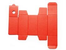 Πρότυπο γραμμών κύβων ενός κόκκινου κουτιού από χαρτόνι Στοκ Φωτογραφίες