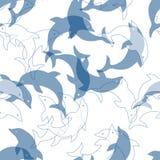 πρότυπο δελφινιών άνευ ραφ Στοκ φωτογραφία με δικαίωμα ελεύθερης χρήσης