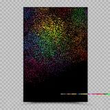 Πρότυπο εγγράφου εμβλημάτων αφισών χρωμάτων Holi Στοκ εικόνες με δικαίωμα ελεύθερης χρήσης