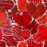 πρότυπο εγγράφου καρδιών άνευ ραφής Στοκ Εικόνα