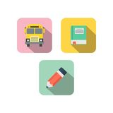 Πρότυπο εικονιδίων μελέτης Απεικόνιση αποθεμάτων