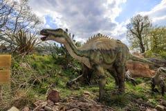 Πρότυπο δεινοσαύρων στο όμορφο πάρκο σαφάρι δυτικού Midland Στοκ εικόνες με δικαίωμα ελεύθερης χρήσης