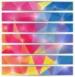 Πρότυπο εμβλημάτων με το τριγωνικό υπόβαθρο μωσαϊκών διανυσματική απεικόνιση