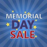 Πρότυπο εμβλημάτων πώλησης ημέρας μνήμης Στοκ Εικόνα
