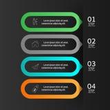 Πρότυπο εμβλημάτων αριθμού infographics σχεδίου γραφικός ή ιστοχώρος Στοκ Φωτογραφίες
