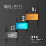 Πρότυπο εμβλημάτων αριθμού infographics σχεδίου γραφικός ή ιστοχώρος Στοκ Φωτογραφία